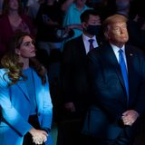 Trump and aides attend packed indoor church rally in Vegas without masks