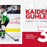 Three-year, entry-level contract for defenseman Kaiden Guhle