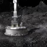 Daring NASA mission touches asteroid, awaits confirmation of scooped sample