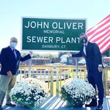 'Last Week Tonight with John Oliver' host secretly visits Danbury for sewage plant renaming