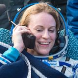 NASA astronaut Kate Rubins votes from space in the US election using the 'ISS voting booth'
