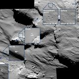 Philae's tumbling landing shows Comet 67P has areas with fluffy snow