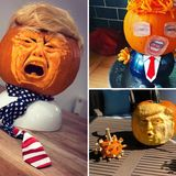 Donald Trump pumpkins are the big Halloween craze as people create 'Trumpkins'