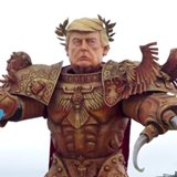 Massive And Terrifying'God Emperor Trump' Presides Over Parade In Italy