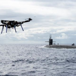Navy delivery drone completes first ever ship-to-sub mission