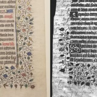 College undergrads find hidden text on medieval manuscript via UV imaging