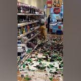 Video: Woman shatters hundreds of alcohol bottles in Aldi supermarket