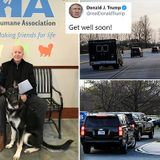 Biden arrives at orthopedist after slipping while playing with his dog