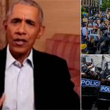 Obama says 'snappy' slogans like 'defund the police' alienates people