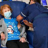 British grandmother becomes first person to receive clinically approved Pfizer vaccine