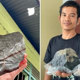 Coffin maker becomes millionaire after $1.8m SPACE ROCK crashes through roof