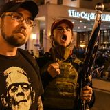 """Pro-Trump protesters rally for a coup: """"We're not going anywhere"""""""