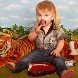Utah photographer dresses baby as the Tiger King for quarantine photo shoot