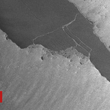 Giant iceberg A68a shatters into large fragments