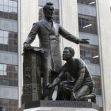 Statue of slave kneeling before Lincoln is removed in Boston