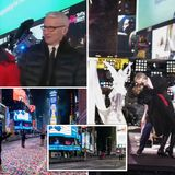 Mayor dances in Times Square as Covid-ravaged NY remains in lockdown