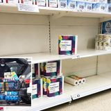 Panic buyers start stripping shelves again as England enters 3rd lockdown