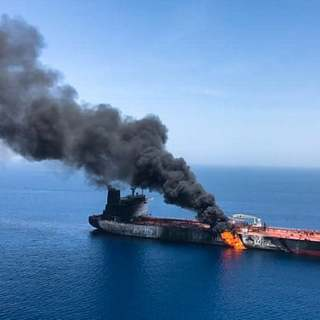 US says video shows Iranian military removing mine from tanker