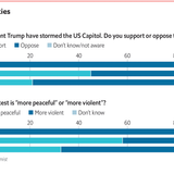 Nearly half of Republicans support the invasion of the US Capitol