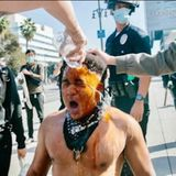 Man maced, punched by Trump supporters in downtown LA speaks out