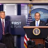 Alex Azar refuses to say if Donald Trump is still fit for office