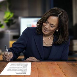Initiative: Kamala Harris Stays Up Late Working Ahead On Biden's 25th Amendment Proceedings