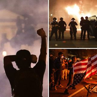 50 Secret Service agents injured in White House riots as Donald Trump is taken to 'terror attack' bunker