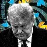 How much money was President Trump's Twitter account worth?