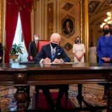 A look at Biden's first executive orders in office