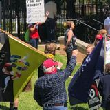 Group of protesters at Governor's mansion rallying to reopen Texas economy