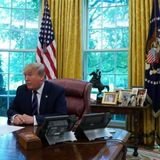 Trump's Diet Coke button appears to have left Oval Office when he did