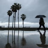 1st in series of storms moves into dry California; atmospheric river possible next week