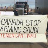Canadians Against War on Yemen Block Shipment of Armoured Vehicles Headed to Saudi Arabia