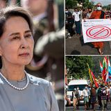 Myanmar's leader Aung San Suu Kyi is detained in a military coup