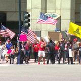Protestors Against Stay-at-Home Order Rally Downtown