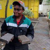 Kenyan recycles plastic waste into bricks stronger than concrete