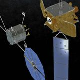 Parasitic spacecraft docks with dead satellite, brings it back to life