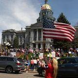 Protesters descend on Colorado Capitol to oppose coronavirus restrictions