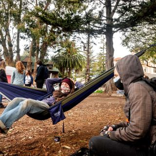 UC Berkeley students occupy People's Park to protest university's plans to develop housing there
