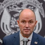 """An emotional Utah Gov. Spencer Cox said Thursday that he was """"not comfortable"""" with the existing language of a bill moving its way through the state Legislature that would ban transgender girls from competing in female K-12 sports."""