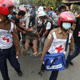 2 killed, dozens injured amid Myanmar police opening fire