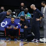 What happened to Steph Curry right before Warriors-Hornets game?