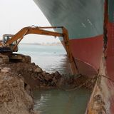 It 'Might Take Weeks' To Free Ship Stuck In Suez Canal, Salvage Company Says