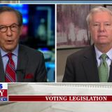 Chris Wallace Grills Graham on Georgia Voting Law: 'Why on Earth' Is It Illegal to Give Voters Water?