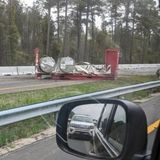 Traffic flowing on I-95 after containers of radioactive material dumped onto highway :: WRAL.com