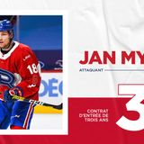 Three-year, entry-level contract for Jan Mysak