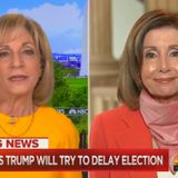 Mitchell & Pelosi Push Conspiracy Theory of Trump Delaying Election