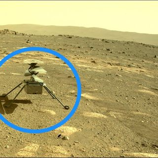 NASA's Mars helicopter just snapped its first color photo of the red planet. It's expected to fly on Monday.