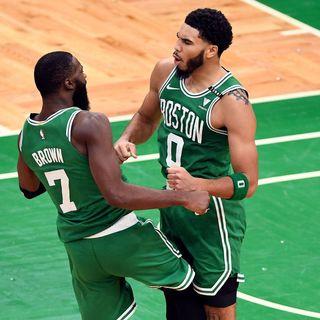 Jaylen Brown, Jayson Tatum discussed ignoring 'outside noise' before Celtics' win over Knicks
