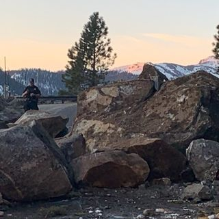 See the massive rockslide that closed Highway 50 near Tahoe